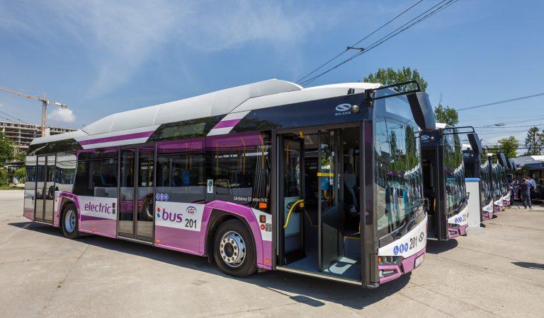 10 autobuze electrice au intrat în circulație la Cluj-Napoca