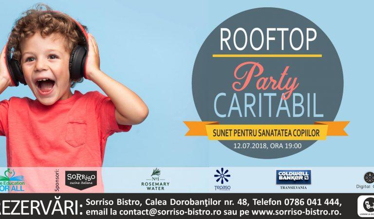 Rooftop Party Caritabil la Bistro Sorriso