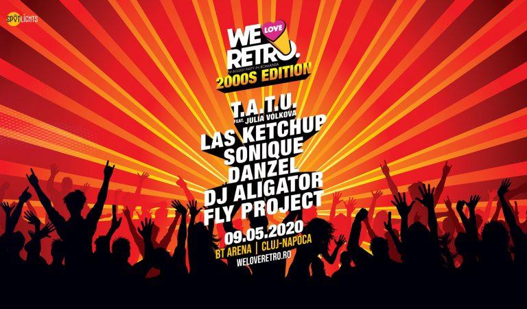 Cei mai îndrăgiți artiști ai anilor 2000 vin la We Love Retro Ediția 2000. BT Arena, pe 9 mai.